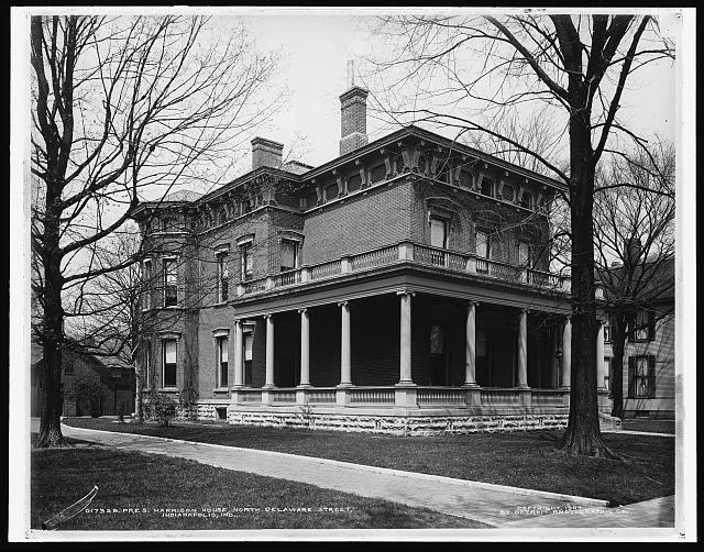President Benjamin Harrison House,North Delaware Street ...  Benjamin Harrison House