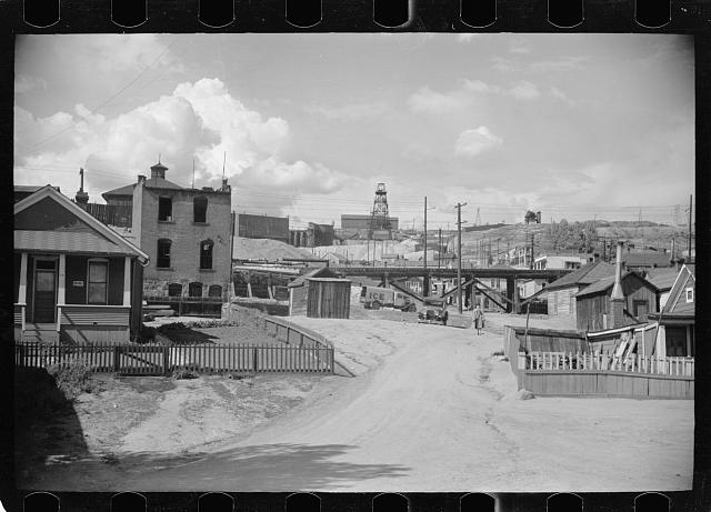 Photo: Butte,Montana,MT,Summer 1939,Arthur Rothstein,Farm Security Administration,5