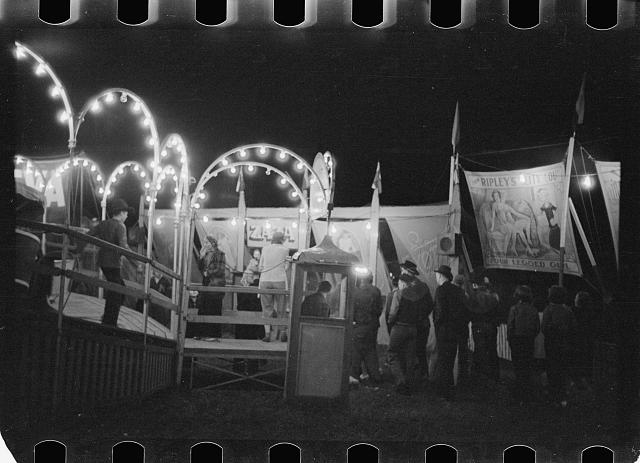 Photo: Carnival,Bozeman,Montana,MT,Farm Security Administration,1939,Rothstein,FSA,1