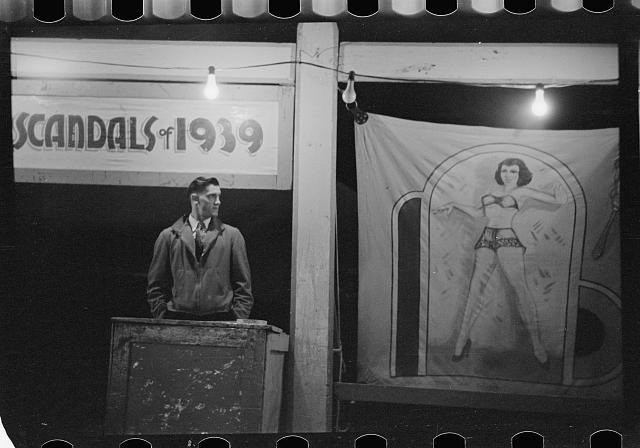 Photo: Carnival,Bozeman,Montana,MT,Farm Security Administration,1939,Rothstein,FSA,8