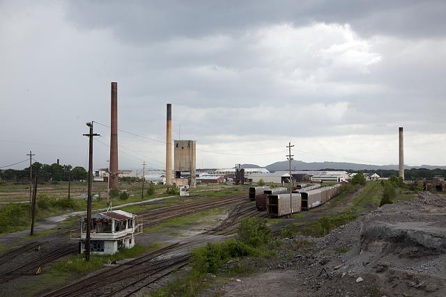Photo: Railroad Yard,RR,Train Cars,Gadsden,Etowah County,Alabama,AL,Carol Highsmith