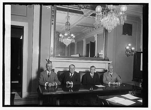 Photo: Senate Committee investigating Veteran's Bureau,10/22/23,October 1923,1